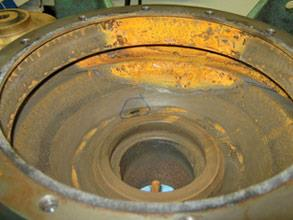 Boiler feed pump suffering from erosion and corrosion damage